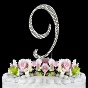 Completely Covered ~ Swarovski Crystal Wedding Cake Topper ~ Number 9