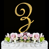 Sparkle ~ Swarovski Crystal Wedding Cake Topper ~ Gold Letter Z