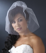 Fine Single Tier Bridal Wedding Birdcage Face Veil Blusher 500