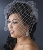 Single Layer Russian Birdcage Face Veil Scattered with Sparkling Rhinestones  702