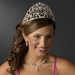 Royal Sweet 15 Quinceañera Silver Headpiece Covered in Clear & Pink Rhinestones 251