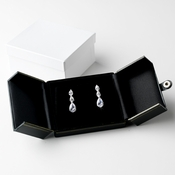 Elegant 2 Door Earring or Bagle Leatherette Display Jewelry Box 9