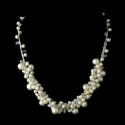 Silver Pearl AB Necklace 7830
