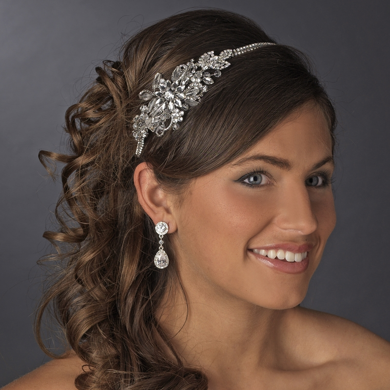 Vintage Wedding Headpieces: Vintage Side Bridal Headpiece Headband HP 613