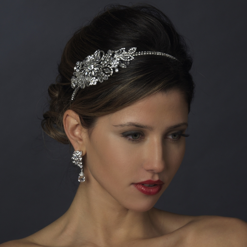Headpieces For Wedding Headbands: Vintage Side Bridal Headpiece Headband HP 613
