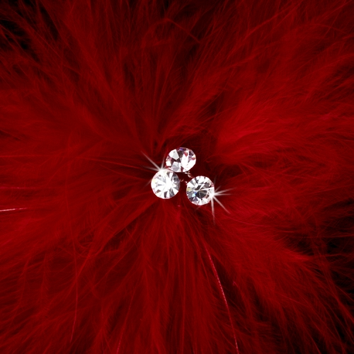 Bridal Feather Fascinator Hair Clip Brooch 442 ( Red, Black, Ivory, White or Cafe)