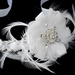 * Gold Accented Ivory Ribbon Bridal Headpiece HP 8531 (Silver or Gold)