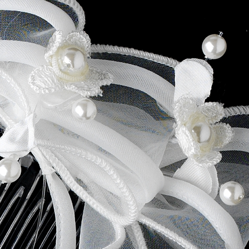 Floral and Fabric Flower Girl's Tiara HPC 706