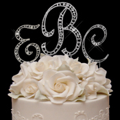 Crystal Monogram Cake Jewelry