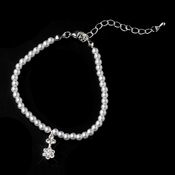 Child's Silver White Pearl Bracelet 402
