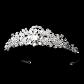 * Silver Clear Crystal & Rhinestone Headpiece 9744