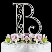 Romanesque ~ Swarovski Crystal Wedding Cake Topper ~ Letter B