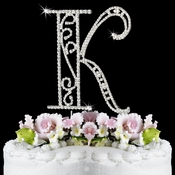Romanesque ~ Swarovski Crystal Wedding Cake Topper ~ Letter K