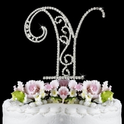 Romanesque ~ Swarovski Crystal Wedding Cake Topper ~ Letter Y