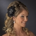 * Black Feather Fascinator Clip with Brooch Pin 8106