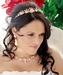 Pink Crystal Bridal Necklace Earring & Tiara Set 8142 (Gold or Silver)