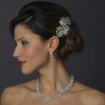 vintage bridal hair b 9981 antique silver