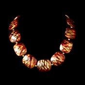 * Necklace 8337 Gold Red