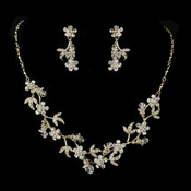 Dangle Swarovski Crystal Dangle Necklace & Earrings Jewelry Set 7206