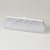 Silver Pleated Satin Evening Bag 319
