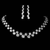 Bold Cubic Zirconia Glamour Jewelry Set N 2543 & E 5107