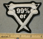 99 %er  Enclosed In Cross Bones - Embroidery Patch