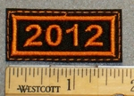 Year 2012 Mini Patch - Embroidery Patch