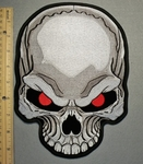 2099 G - Red Eyed Skull Face - Back Patch - Embroidery Patch