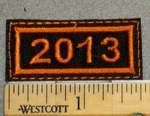 Year 2013 Mini Patch - Embroidery Patch