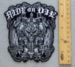 RIDE OR DIE BIKER FOR LIFE - EMBROIDERY PATCH