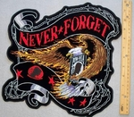 EXTRA LARGE NEVER FORGET POW EAGLE PATCH - FREE SHIPPING!