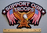 SUPPORT OUR TROOPS EXTRA LARGE EAGLE PATCH - FREE SHIPPING!