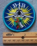 B-1B Round Embroidered Patch