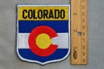 COLORADO STATE FLAG SHIELD - EMBROIDERY PATCH