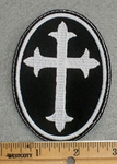 1572 L - Orthodox Cross - Embroidery Patch