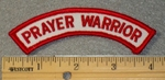 1808 G - Prayer Warrior - Mini Rocker - Embroidery Patch