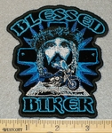 Blessed Bikers With Jesus Face - Embroidery Patch