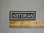 Historian - Embroidery Patch