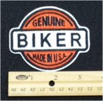 20 N - GENUINE BIKER - EMBROIDERY PATCH