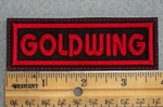 Goldwing - Red - Embroidery Patch