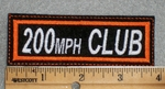 200 MPH Club - Embroidery Patch