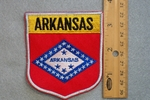 ARKANSAS STATE FLAG SHIELD - EMBROIDERY PATCH