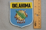 OKLAHOMA STATE FLAG SHIELD - EMBROIDERY PATCH