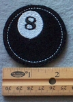 Cue Ball Embroidered Patch