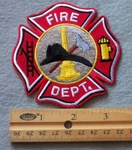 859 R - Fire Dept. Embroidered Patch