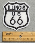 Illinois Route 66 Sign Embroidered Patch