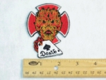 IRON CROSS FIRE DEVIL DEATH CARD PATCH
