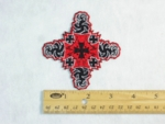 IRON CROSS FRACTAL DESIGN - EMBROIDERY PATCH