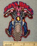 1529 N - Boss Hogg on Motorcycle - Embroidery Patch