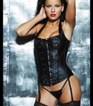 PVC LEATHER LACE-UP CORSET - Bike Rally / Club Wear Dress